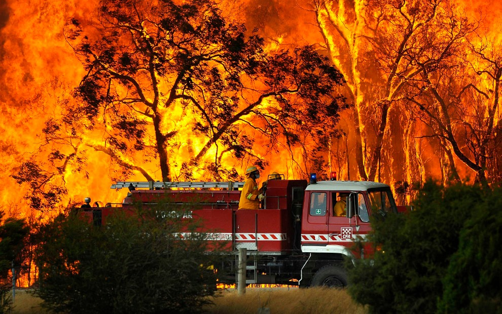 The bushfires across Australia